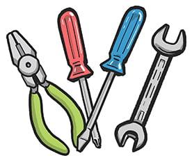 工具をイメージする挿絵