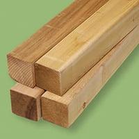木工ランドさん:エリート4x4材の引用画像(ウエスタンレッドシダー材)