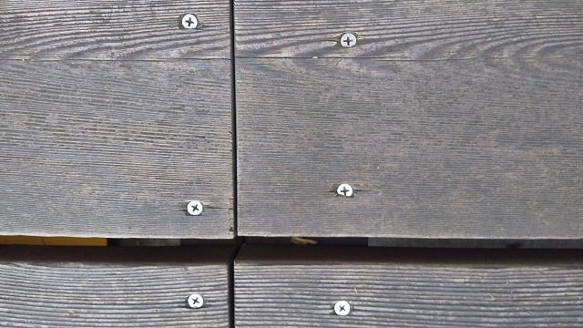 1Fデッキ床板②:1Fデッキ床板のSUS410ビス頭の写真画像の二枚目