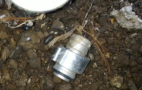 水栓の先に付いていた既存部品の写真画像