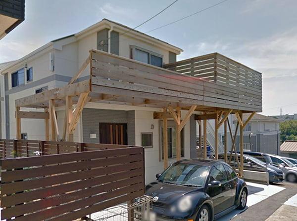建売の恥ずかしい外観の改善(外観隠しリフォーム)後を撮影した写真画像1 北西側からの外観(after1)byGoogleStreetView