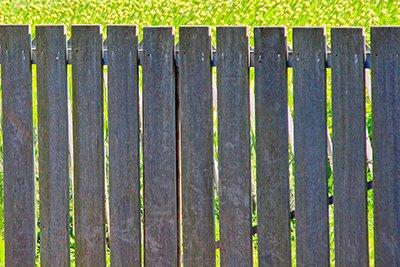 木製フェンスの挿絵の写真画像