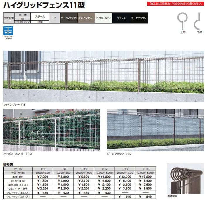 LIXILさんカタログページから引用したハイグリッドフェンス11型の解説画像1