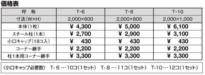 LIXILさんカタログからの引用画像①価格表