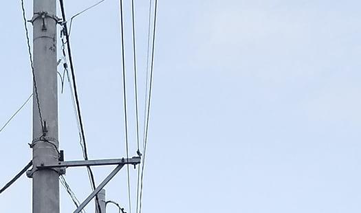 電柱と電線の挿絵