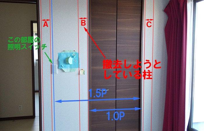 建具正面からの写真に解説を書き込んだ写真画像