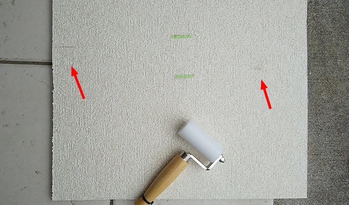 クロスの補修をしてみた状態を撮影した写真画像 ※天井点検口の開け方(天井への点検口の作り方)補足画像3-3