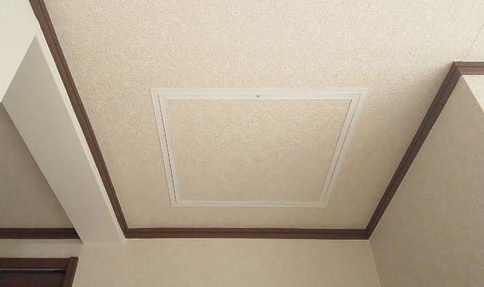 天井点検口取り付け後(アフター)の写真画像 ※天井点検口の施工結果解説画像1