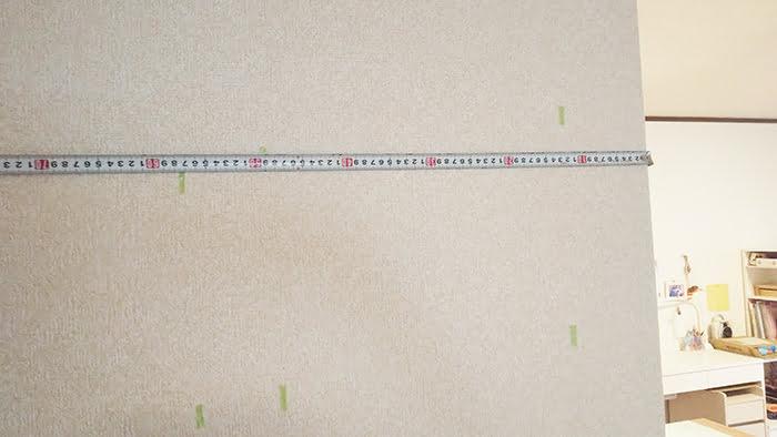 探索壁面にスケールを当てた様子を撮影した写真画像(下地センサー精度検証解説用2)
