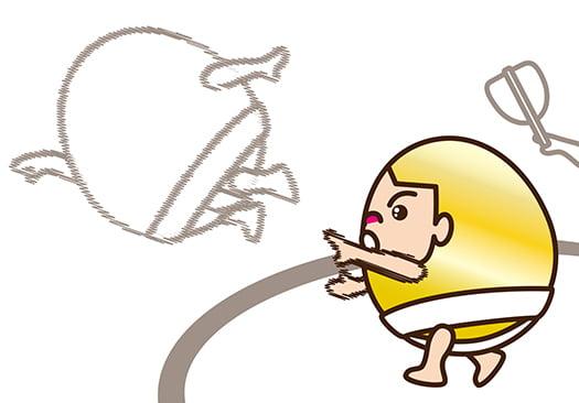 挿絵:土俵から突き落とされるイメージのイラスト画像
