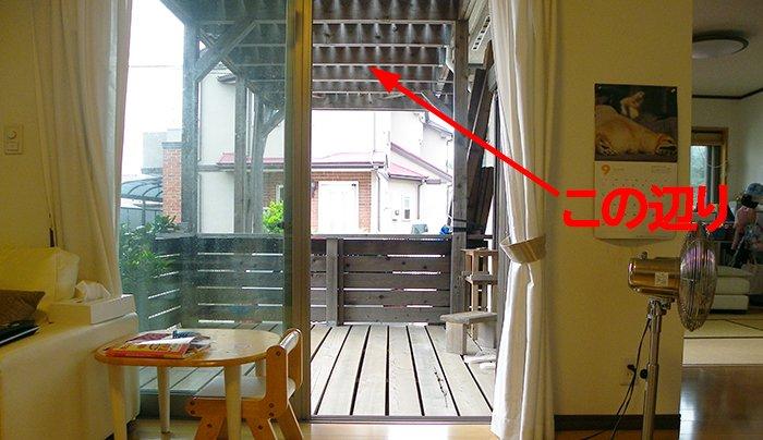 前写真に「何か」を感じる位置を図示した写真画像(写真自体は昨年のモノ)