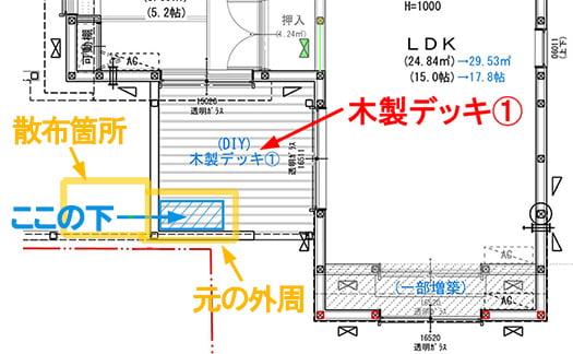 逃げ道を塞ぐ範囲のイメージを図示したスケッチ画像