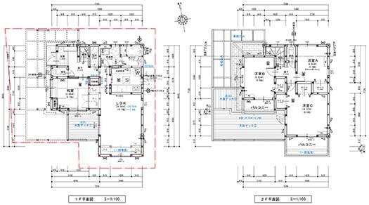 筆者の建売マイホーム改修計画を示した図面画像