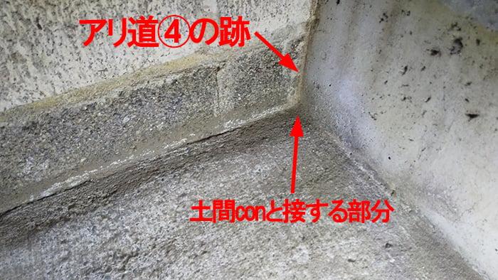 アリ道④撤去&掃除後の様子を撮影した解説コメント入り写真画像 ※シロアリの巣の見直し分析&検証画像12