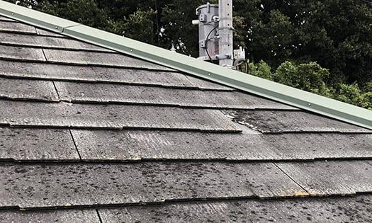 実家のスレート屋根の劣化箇所を撮影した写真画像2