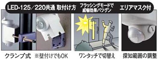 LED-220の製品解説がザッと書かれているラベルの画像