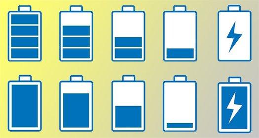 挿絵:電池残量をイメージさせる挿絵
