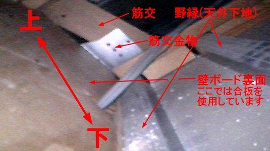 ファイバースコープで覗いた天井裏内部を撮影した写真画像3