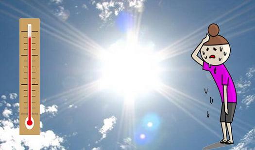 挿絵:夏場の強い日差しをイメージさせる写真画像にイラストを加えたもの