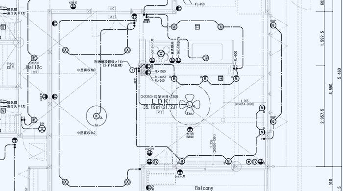 とある注文住宅の電気設備計画スケッチの抜粋スケッチ画像 ※建売で後悔しないための注意点「2条」解説画像2