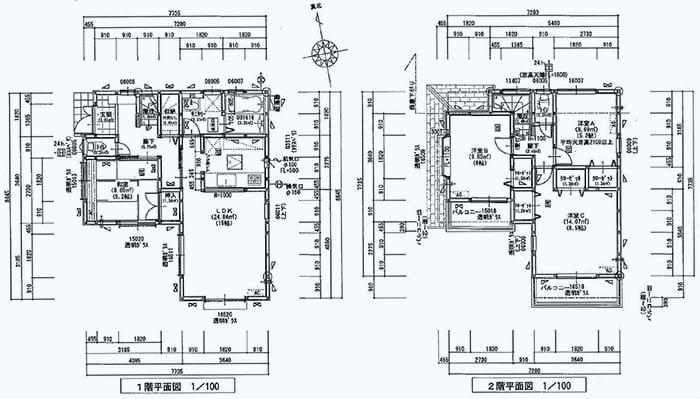 筆者の建売マイホームの当初平面図の抜粋 ※建売住宅はなぜ安いか?(安い理由)画像1