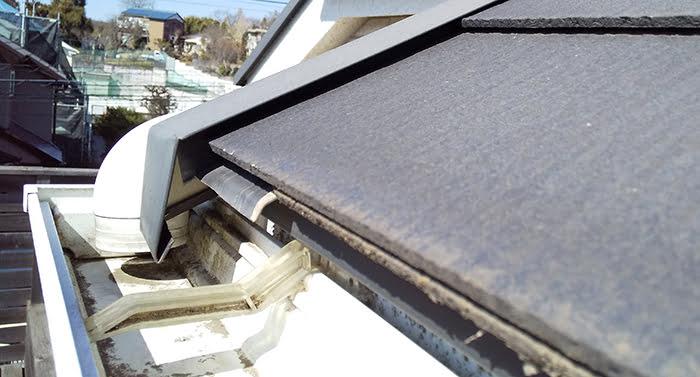 バルコニーからの屋根点検で撮影した軒先廻りの写真画像(近景) ※バルコニーから自分で行う屋根点検の方法解説画像3