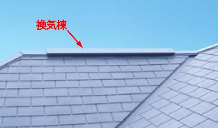 TOKOさんサイト換気棟ページより引用した、換気棟の例を示したコメント入り写真画像 ※アミメニシキヘビはいつ、どこから屋根裏に戻った?検証&解説画像28