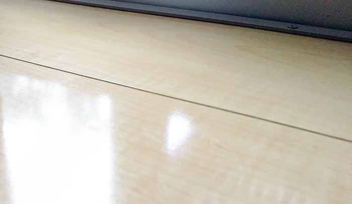 筆者の建売マイホームのフローリング重ね張りに使用したHA15を撮影した写真画像