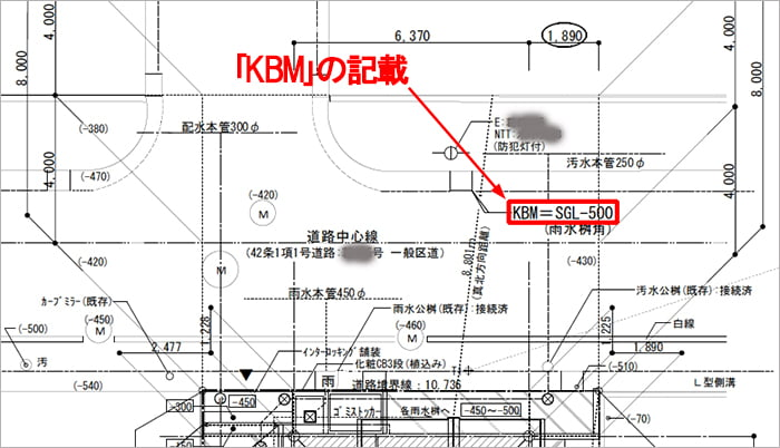略語「KBM」表記の例:とあるアパートの配置図からの抜粋図面画像